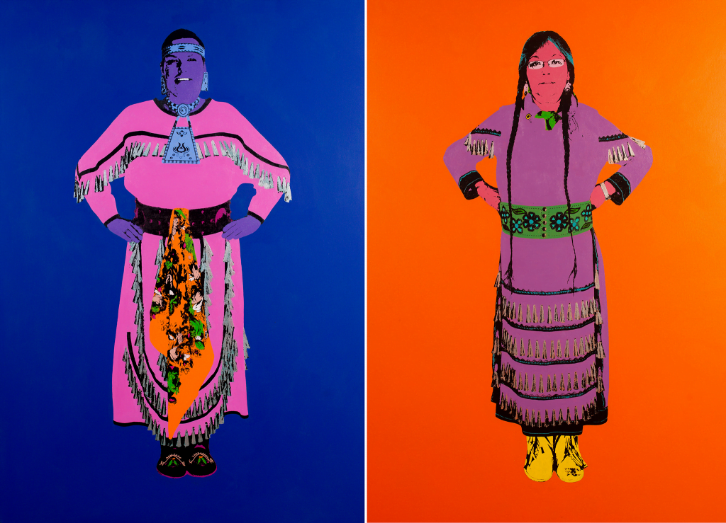 """Chapman fuses Pop art sensibilities with Indigenous cultural references and imagery.""  (source - SG Current Exhibitions)"